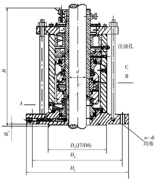 双端面机械密封结构示图